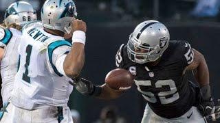 Download Week 12: Oakland Raiders beat Carolina Panthers 35-32! Khalil Mack strip sacks Cam Newton to win! Video