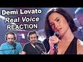 """Demi Lovato - Real Voice (Without Auto-Tune)"" Singers Reaction"