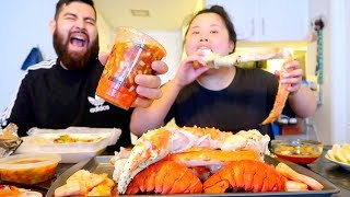 Download MUKBANG SEAFOOD BOIL! 먹방 (EATING SHOW!) KING CRAB + CEVICHE + SHRIMP (HOMEMADE) Video