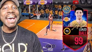 Download 99 OVR LONZO BALL WITH MAXED OUT ATTRIBUTES! NBA Live Mobile Gameplay Pack Opening Ep. 159 Video