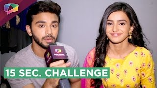 Download Samridh Bawa and Ankita Sharma Take Up The 15 second Challenge | India Forums Video