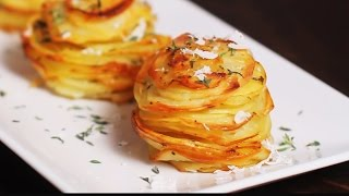 Download Parmesan Potato Stacks Recipe Video