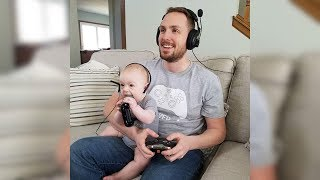 Download Hilarious Baby Copies Daddy - Cute Babies Copying Dad - Funny Baby Videos Video