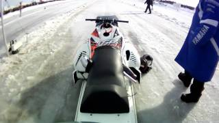 Download Take a ride on a OSP outlaw Turbo Snowmobile 4.46 @ 156mph Video