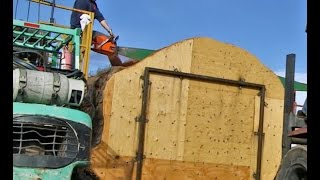 Download World's Biggest Chainsaw vs Ancient SALVAGED Redwood Video