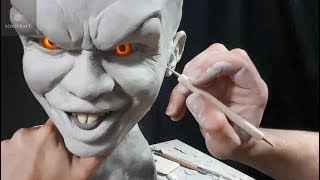 Download Sculpting Pennywise - Timelapse sculpt and Airbrush Demo Video