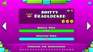 Download Geometry Dash - 'Shitty Deadlocked' 100% Complete (All 3 Coins) Video