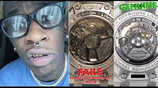 Download Young Thug Gets Called out for Having a FAKE WATCH. He Claims A Dubai Prince Gave it to Him. Video