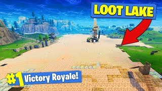 Download WE COVERED THE *ENTIRE* LOOT LAKE In Fortnite Battle Royale! Video