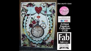 Download 22. Cardmaking Tutorial: FabScraps Antique Elegance Oval Scallop Watch Card Video