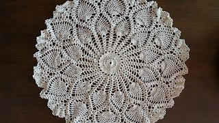 Download Crochet Doily - Rounded Pineapples Doily Part 7 - Final Part Video