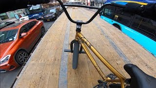 Download RIDING BMX ON TOP OF MOVING 18 WHEELERS IN NYC 3 Video