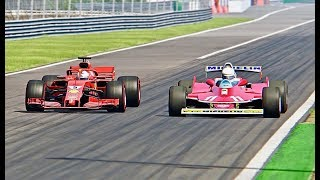 Download Ferrari F1 2018 vs Ferrari F1 1979 - Monza Video