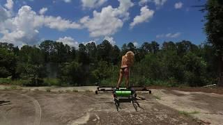 Download Woman Flying on a drone Jeff Elkins Video