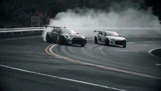 Download Toyota GT86 VS Nissan GT-R | Masato Kawabata vs Ken Gushi | Drift Racing Video