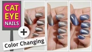 Download Cat Eye Gel Polish with Magnet – Color Changing – DIY at Home Video