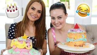 Download CAKE DECORATING WITH A BLIND GIRL ft Molly Burke! Video