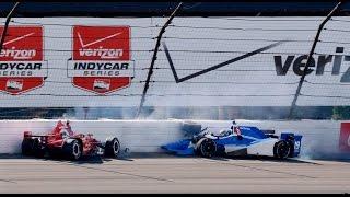 Download HUGE CRASH Indycar Graham Rahall and Tristan Vautier POCONO 2015 (HD) Video