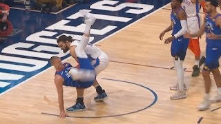 Download Steven Adams Saves Mason Plumlee From Scary Fall Instead Of Scoring! Thunder vs Nuggets Video