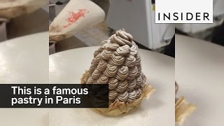 Download The Mont Blanc cake is of the most famous pastries in Paris Video