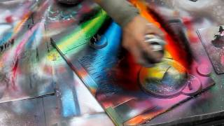 Download Technically perfect spray painting in Rome, Italy - HD720p Video