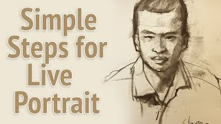 Download Simple steps for live portrait drawing in 10 minutes Video