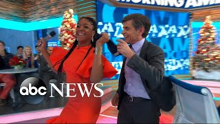 Download Tiffany Haddish thanks her bullies for making her rich, forces George Stephanopoulos to dance Video