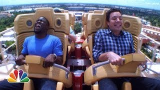 Download Jimmy and Kevin Hart Ride a Roller Coaster Video