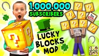 Download 1 MILLION SUBSCRIBERS! Minecraft Lucky Block Mod FGTEEV Gameplay Fun w/ Announcement Video