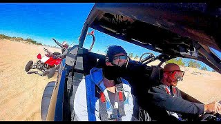 Download Maverick X3 XRS - A CRASH, Huge Jumps, and Wife's First Ride - At Silver Lake Sand Dunes Video