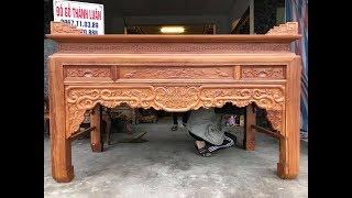 Download Ban Thờ (Án Giang) Phúc Thọ Gỗ Gõ Đỏ.2m17x1m07x1m27 Video