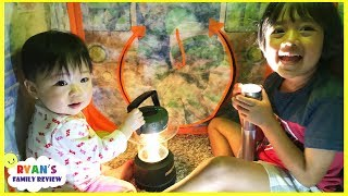 Download Camping and Hiding from the storm and Lights went out+ Family Fun Kids Pretend Playtime Video