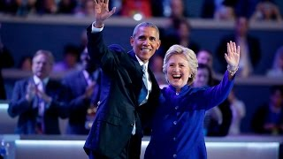 Download Hillary Clinton joins President Obama on stage at 2016 Democratic National Convention Video