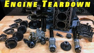 Download 2.0 TSI Engine Bottom End Teardown ~Pistons, Balance Shafts Oil Pump Video