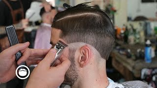 Download Hard Part Skin Fade Haircut with Beard Line Up Video