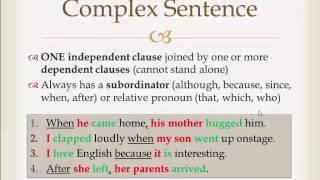 Download Types of Sentences (Simple, Compound, Complex, Compound-Complex) Video