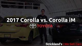 Download 2017 Toyota Corolla vs. 2017 Corolla iM Hatchback | Strickland's Video
