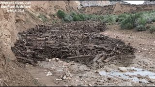 Download MONSTER flash flood, debris flow in Johnson Canyon, Utah on July 16, 2018! Video