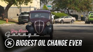 Download Biggest Oil Change Ever - Jay Leno's Garage Video