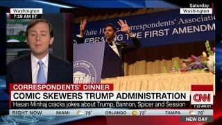 Download Comedy, politics collide as Trump skips event Video