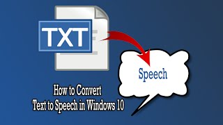 Download How to Convert Text to Speech in Windows 10 Video