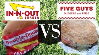 Download In N Out VS Five Guys | Versus BURGER edition Video