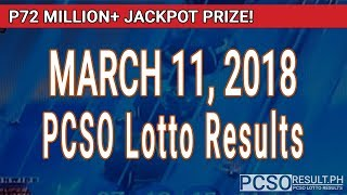 Download PCSO Lotto Results Today March 11, 2018 (6/58, 6/49, Swertres, STL & EZ2) Video