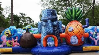 Download 360° Video Spongebob Toddler Bounce House | Call 281-606-5867 | Sky High Party Rentals Video