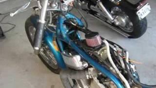 Download Suzuki Intruder RatRod Bobber Project: $12 dollar pipes Video