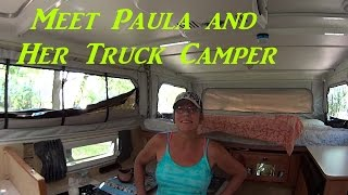 Download Meet Paula and Her Truck Camper Interview RV Tour Video