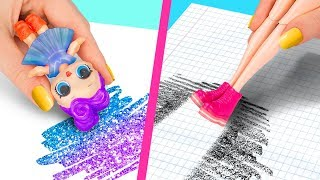 Download 10 Weird Ways To Sneak Barbie Dolls Into Class / Clever Barbie Hacks And LOL Surprise Hacks Video