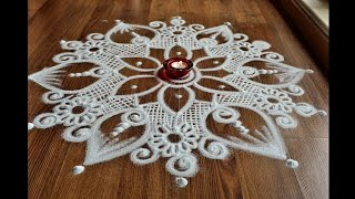 Download Attractive big rangoli designs without colours for Diwali by Shital Daga Video