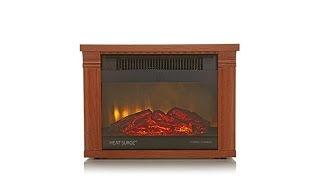 Download Heat Surge Mini Glo Infrared LED Fireplace Heater Video