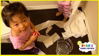 Download Kids Caught Pulling Paper and Drawing all over the wall with Ryan's Family Review! Video